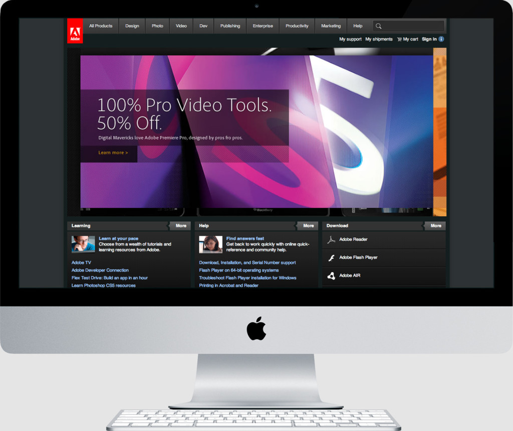 Adobe Persona Driven Homepage Prototype, Special Offers