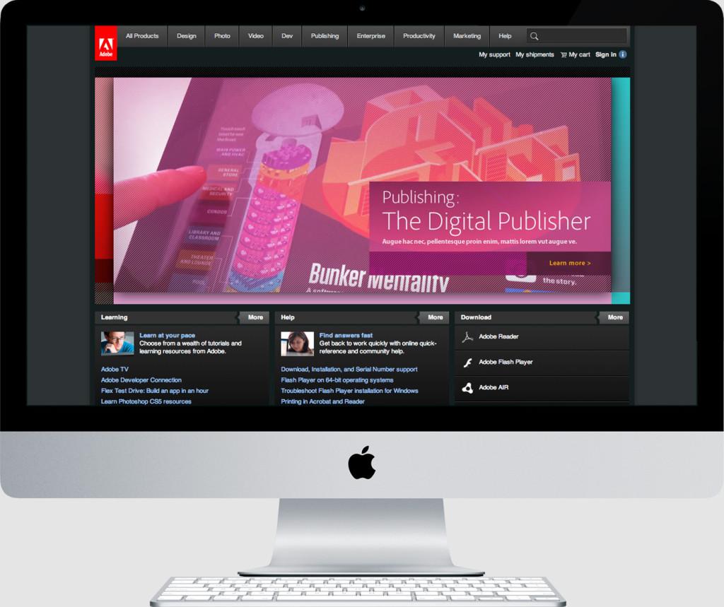 Adobe Persona Driven Homepage Prototype, Mobile Segment