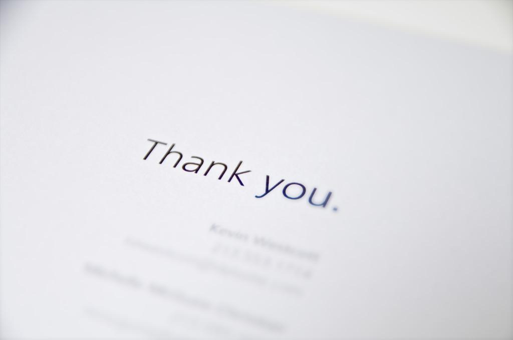 Paramount presentation, Thank You page
