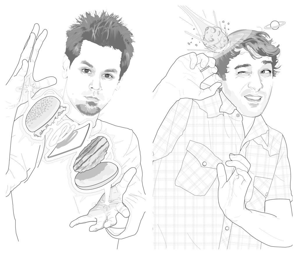 Bill Salvador and Andrew Seles illustrations