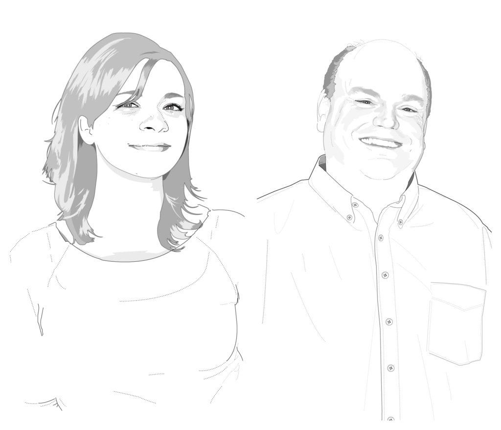 Carly Johnson and Chuck Rickard illustrations