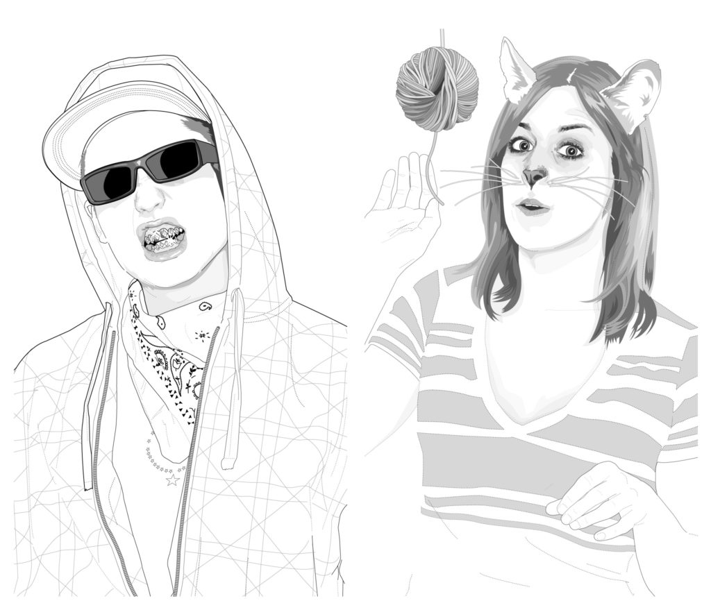 James Fiszer and Brittany Ludwig illustrations