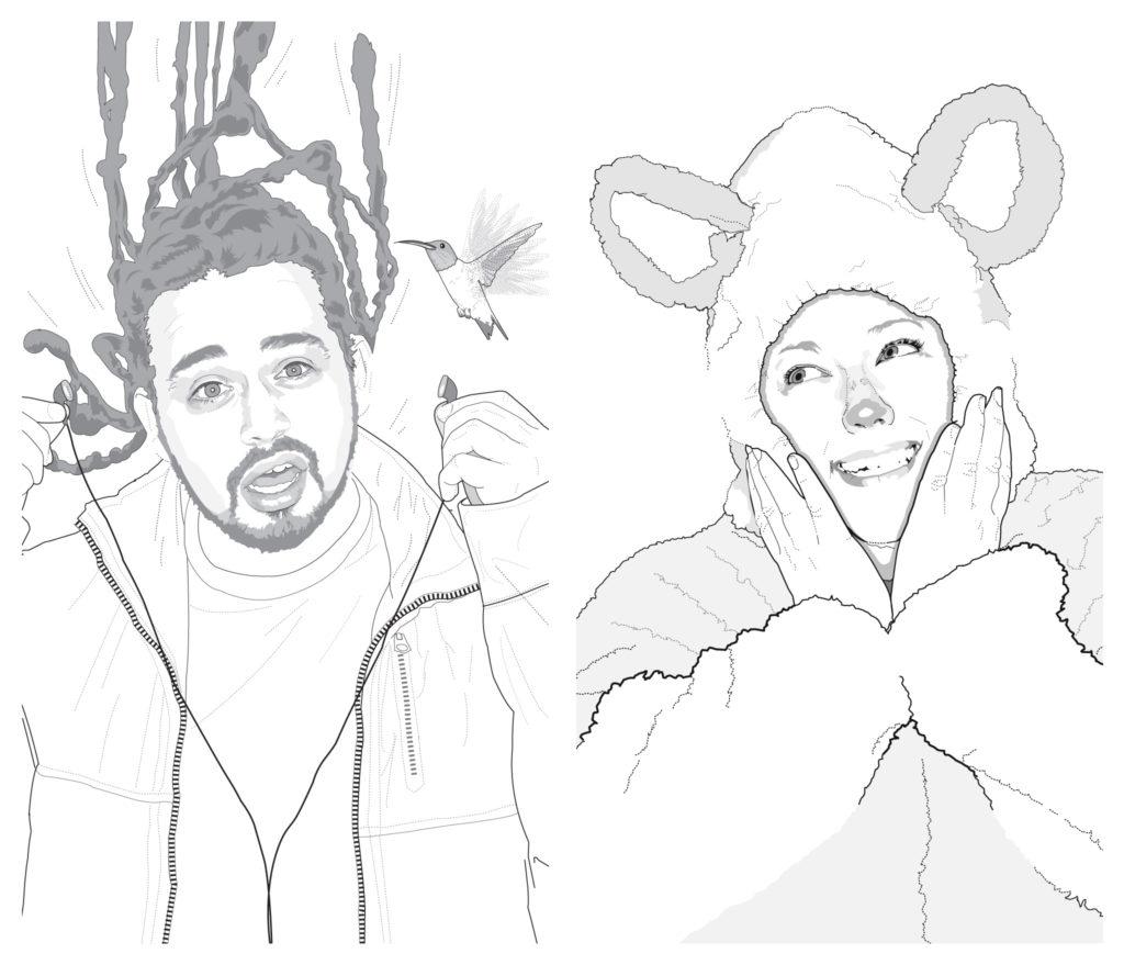 Jason Contreras and Paula Tade illustrations